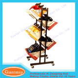 Movable Double Side Exhibition Metal Wire Wine Racks