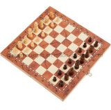 OEM High Quality Folding Magnetic Wooden Chess Set Board Game