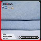 Slub Slim Indigo Lady Garment Washed 4oz Denim Fabric for Jeans