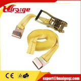 "25 -100mm Flat Hook Ratchet Strap 2"" X 27′ Yellow"