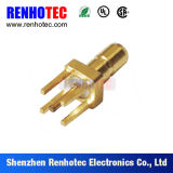 SMB Straight Male Type Bulkhead PCB Mount RF Coaxial Connector