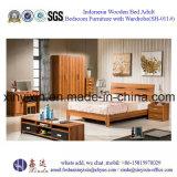 India Design Wooden Bed Modern Home Bedroom Furniture (SH-011#)
