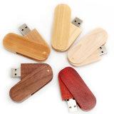 Swivel Wood Friendly USB Flash Drive Memory Stick Logo Promotional