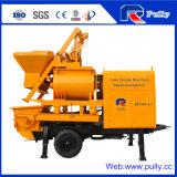 Pully Manufacture Portable Double Shaft Concrete Mixer Pump for Sale (JBT40-L)