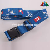 "High-Quality Polyester 2"" National Flag Printed Luggage Strap with Plastic Buckle"