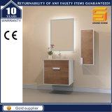 Melamine White Paint MDF Bathroom Vanity Unit with Side Cabinet