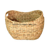 Customized Natural Material Water Hyacinth Laundry Basket