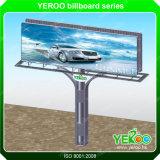 Outdoor Advertising Steel Highway Advertising Lighting Billboard Construction