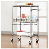Multi-Purpose 3 Tiers Steel Drinks Trolley with NSF Approval