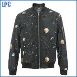 Black Star Zipper Windcheater Fashion Design of Jacket