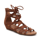 Ankle Atraps Shoes Roman Style Buckle Strap Peep-Toe Sandals
