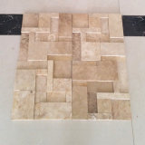 Morden Design 3D Beige Travertine Mosaic for Wall and Floor Tile