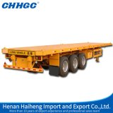 Chhgc 40 FT Container Transportation Semi Flatbed Trailer for Sale