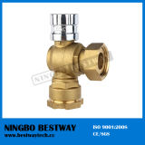 Brass Angle Lockable Ball Valve for Water Meter