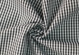 Black/White Classical Checks Plain Polyester Cotton Shirt Fabric