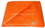 Orange Light Duty PE Tarpaulin Cover