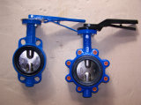 Large Size Water Control Butterfly Valve with Full EPDM Rubber Lined
