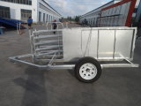 Australia Galvanized Livestcok Cattle Animal Goat Sheep Panel Trailer
