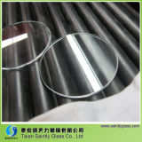 4mm Round Clear Low Iron Float Tempered Flat Glass for Lamp Shade with Polished Edge