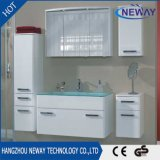 New Design PVC Waterproof Bathroom Wall Cabinet with Glass Basin