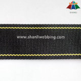 35mm Black and Yellow Striped Polyester Webbing