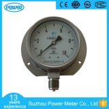 100 mm Bottom Connection Stainless Steel Manometer with Flange Mounting