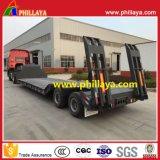 2-3axle 13.5m 40ton Low Bed Lowboy Truck Semi Trailers