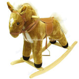Hot Selling Visual Plush Rocking Horsetoy for Children (GT-09949)