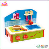 Wooden Small Size Play Kitchen (W10C048)