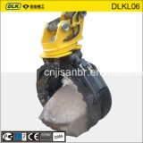 360 Degree Rotated Hydraulic Rock Grapple for Excavator Bucket