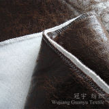 Suede Nap Chammy Fabric with Hot Stamping Treatment for Sofa