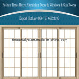 Factory Price Good Quality Double Layer Glass Aluminum Sliding Door for Mall