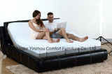 Electric Bed Adjustable Bed Massage Bed with Memory Foam Mattress