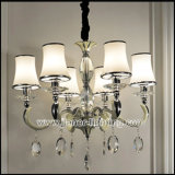 Die-Casting Aluminium Crystal Chandelier with Glass Shades (S825-6)