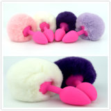 New Arrival Silicone Rabbit Tail Anal Plug Mini Size