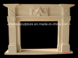 Simple Style Hand Carved Marble Fireplace (SY-MF160)