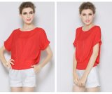 Wholesale New Fashion Lady High Quality Short Sleeve Chiffon Blouse