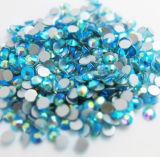 China Wholesale Glass Diamond Non Hot Fix Flat Back Crystal Stone (FB-SS20 Aquamarine ab)