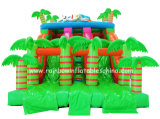 2017 New Design Inflatable Castle Forest Theme Double Slide for Sale