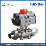 Stainless Steel Male Thread Pneumatic Ball Valve