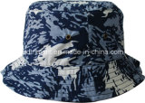 Fashion Camouflage Print Taslon Leisure Fisherman Bucket Hat (TRBT008)