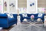 Blue Sofa Set Fabric Sofa Set (L. A07)