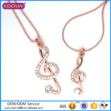 China Factory Wholesale Bead Jewelry Music Note Necklace with Diamonds