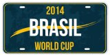Brazilian Decorative License Plate/World Cup Decorative License Plate in Brazil