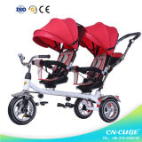High Quality Twin Baby Tricycle Stroller