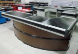 Fashion Design Supermarket Cashier Checkout Counter with Conveyor Belt Yd-R0001