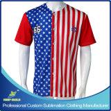 Custom Made Sublimation Full Buttons Down Baseball Jerseys