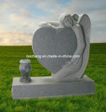 Polished Grey Granite Monument for Memorial Monument