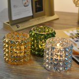 Color Plating High Quality Glass Candle Holders