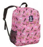 Girls′ Polyester Pink Crackerjack School Bag Horse Backpack Sh-15113002
